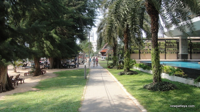 Pine Shore condo looking towards Casuarina Jomtien Hotel