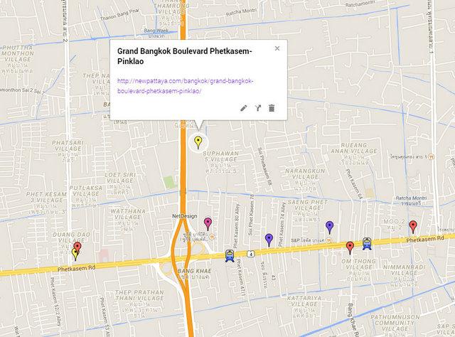 Grand Bangkok Boulevard Phetkasem-Pinklao Map