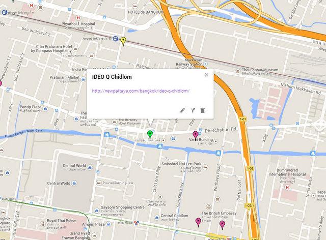 IDEO Q Chidlom Petchaburi Map