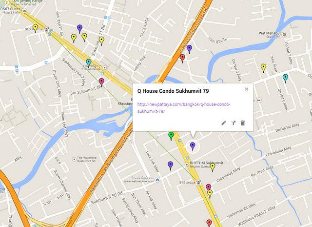 Q House Condo Sukhumvit 79 Map