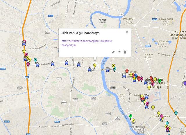 Rich Park 3 Chaophraya Map