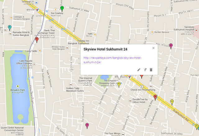 Skyview Hotel Sukhumvit 24 Map