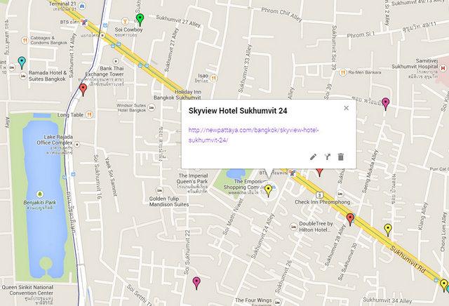 Skyview Hotel Sukhumvit 24 Map