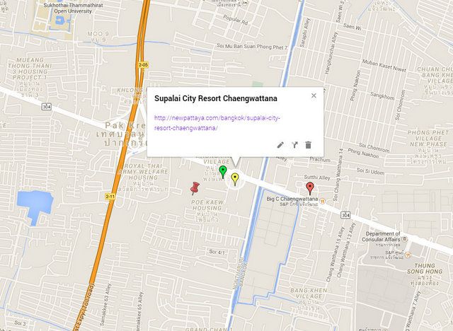 Supalai City Resort Chaengwattana Map