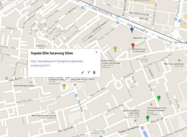 Supalai Elite Surawong Silom Map