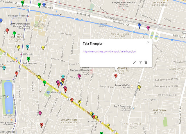 Tela Thonglor Map