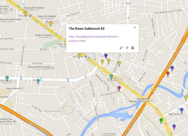 The Room Sukhumvit 69 Map