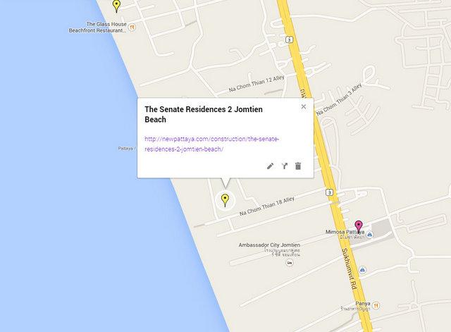 The Senate Residences 2 Jomtien Beach Map
