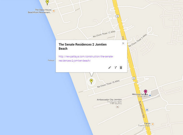 The Senate Residences 2 Jomtien Beach Map
