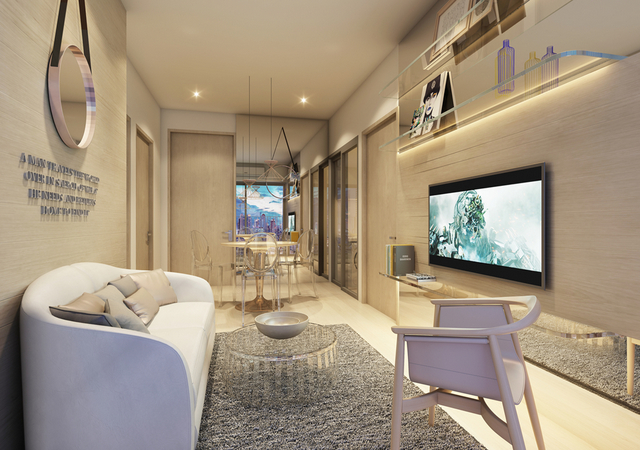 Whizdom Connect Sukhumvit Living room