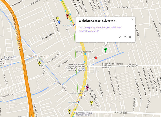 Whizdom Connect Sukhumvit Map