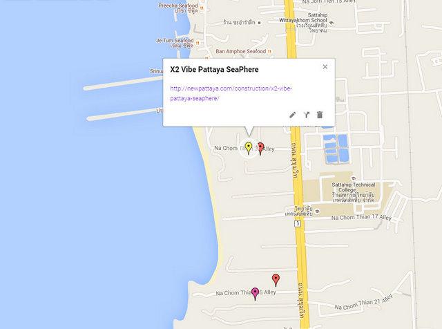 X2 Vibe Pattaya Seaphere Map