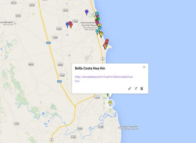 Bella Costa Hua Hin Map
