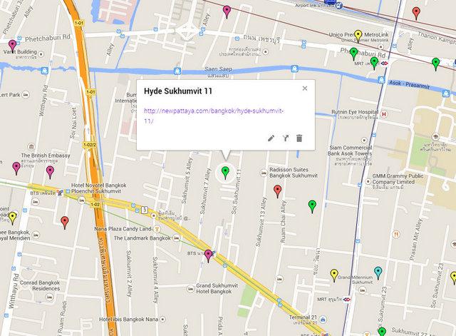 Hyde Sukhumvit 11 Map