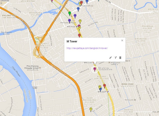 M Tower Bangkok Map