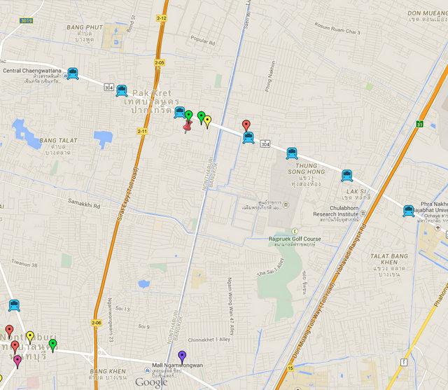 MRT Pink Line Bangkok Map