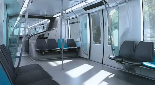 MRT Pink Line interior