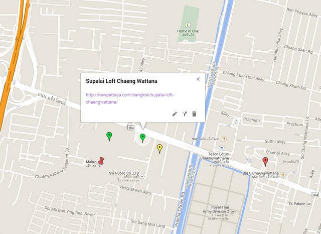 Supalai Loft Chaengwattana Map