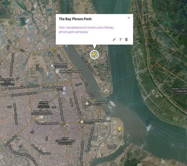 The Bay Phnom Penh Cambodia Map