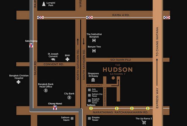 The Hudson Sathorn 7 Map