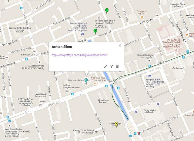 Ashton Silom Map