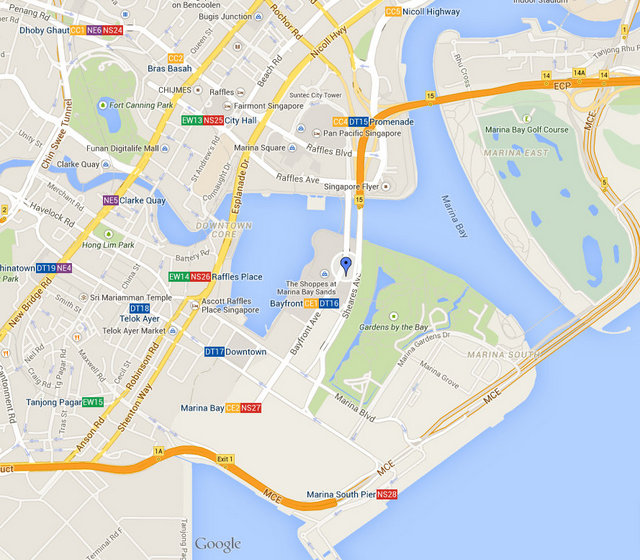 Marina Bay Sands Map