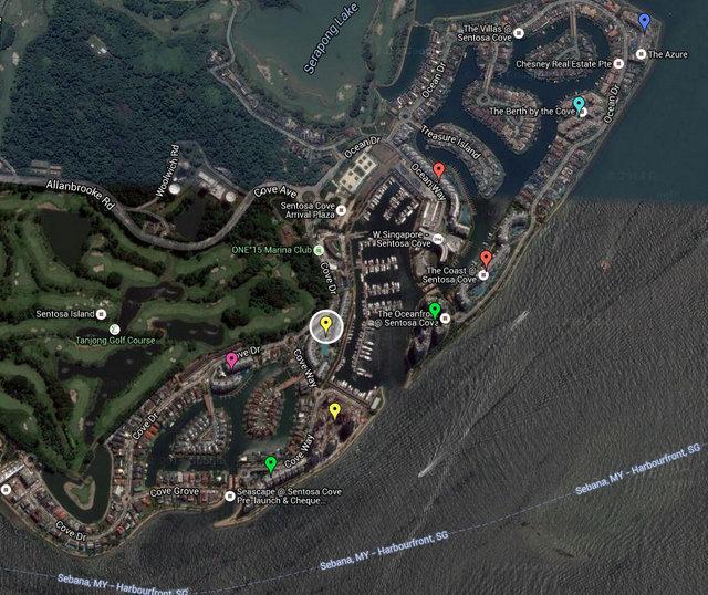 Marina Collection Sentosa Cove Map