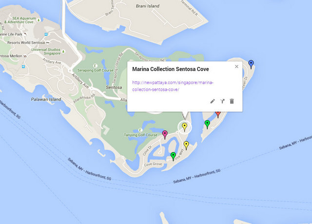 Marina Collection Sentosa Cove Map