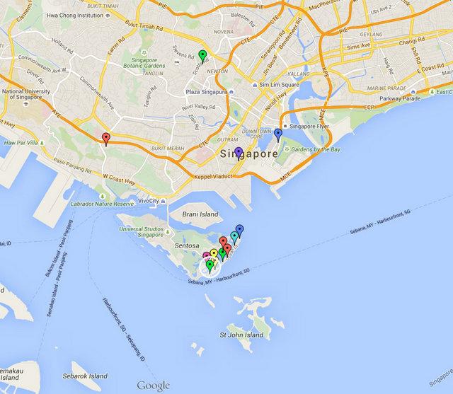 Seascape Sentosa Cove Map