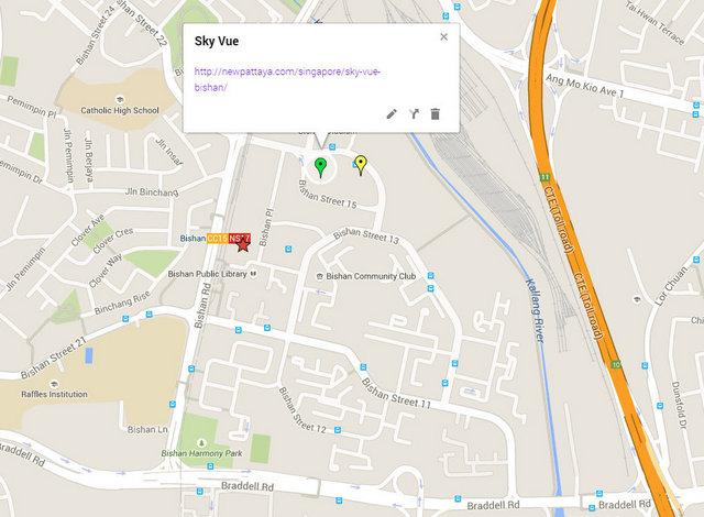 Sky Vue Bishan Map