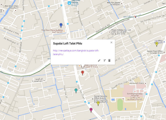 Supalai Loft Talat Phlu Map