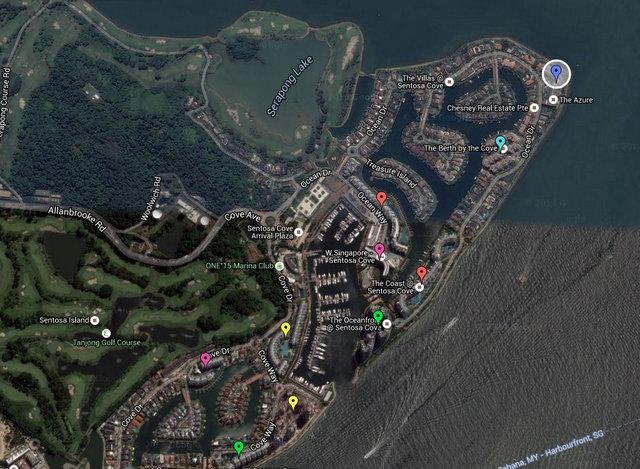 The Azure Sentosa Cove Map