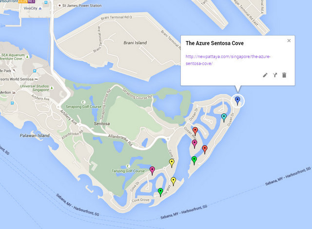 The Azure Sentosa Cove Map