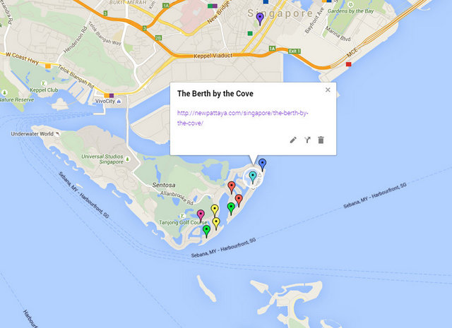The Berth by the Cove Map