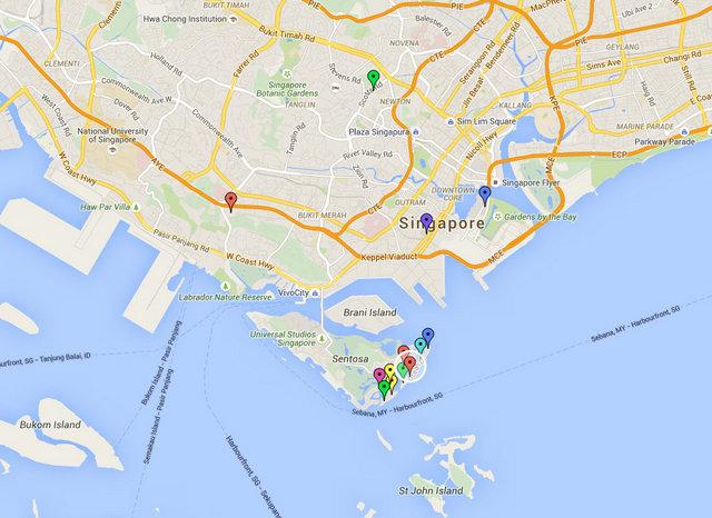 The Coast Sentosa Cove Map