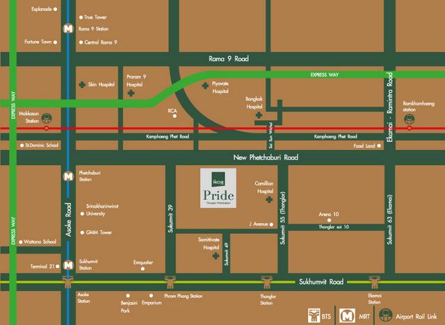 The Niche Pride Thonglor Phetchaburi Map