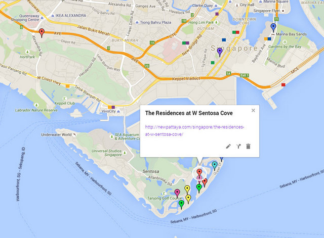 The Residences at W Sentosa Cove Map