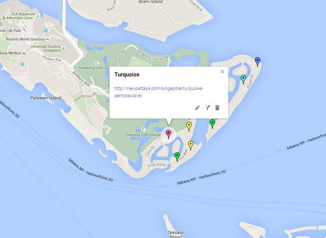 Turquoise Sentosa Cove Map
