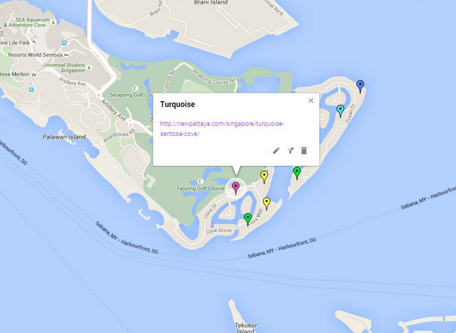 Turquoise Sentosa Cove Map