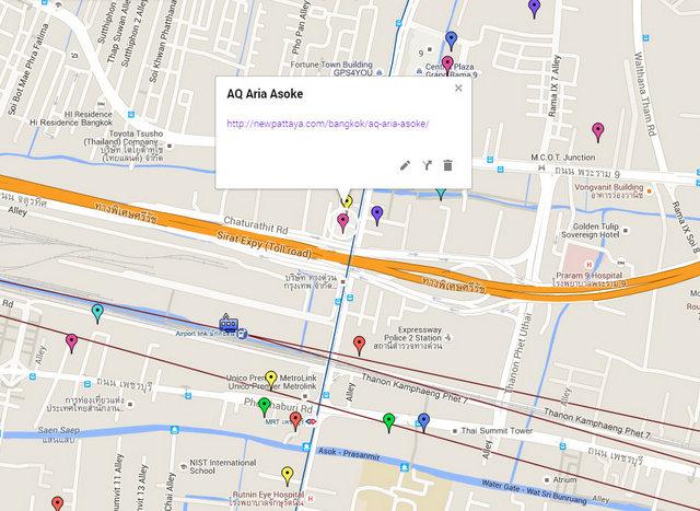 AQ Aria Asoke Map