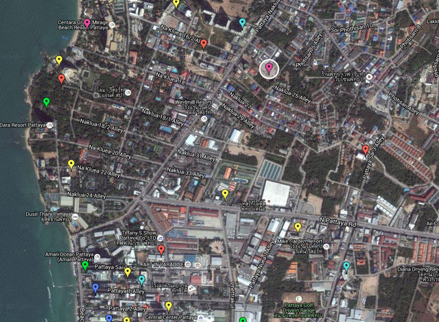 Brighton Square Pattaya Map