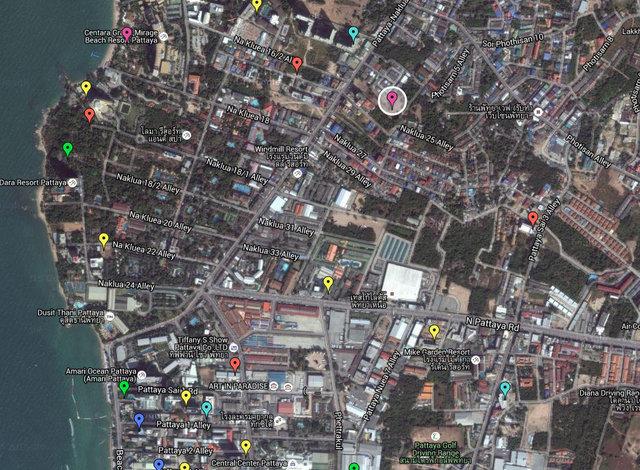 Brighton Square Pattaya Map