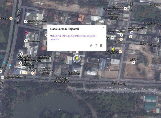 Klass Sarasin Rajadamri Map