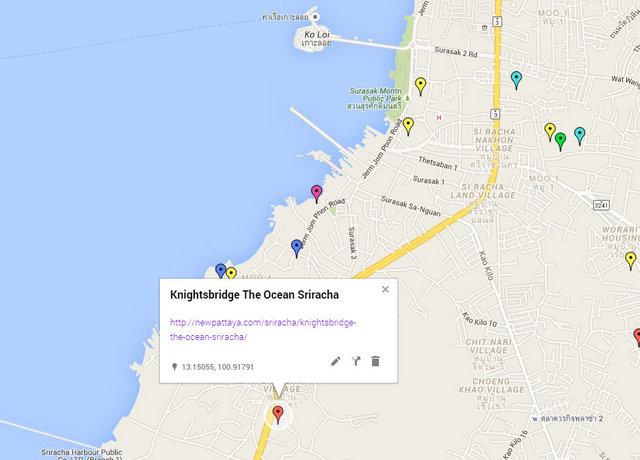 Knightsbridge the Ocean Sriracha Map