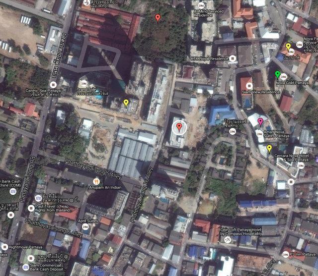 March Hotel Pattaya Map