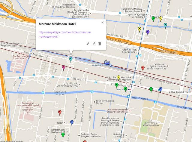 Mercure Makkasan Hotel Map