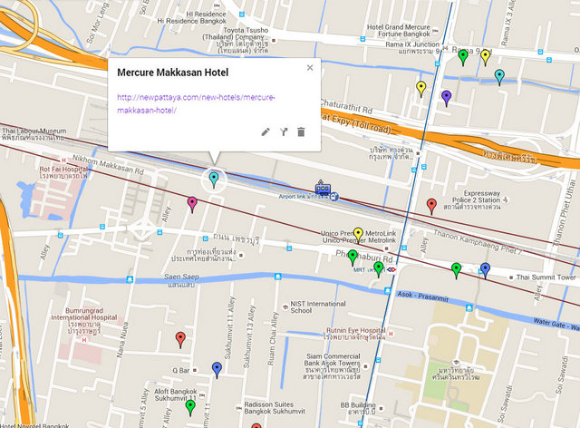 Mercure Makkasan Hotel Map