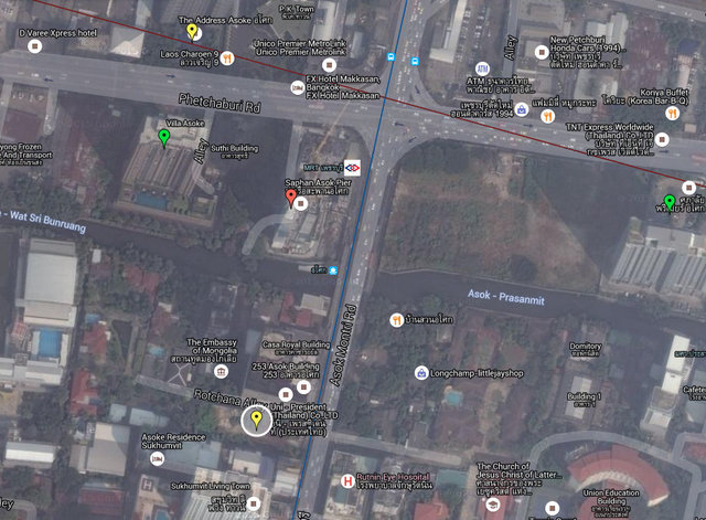 The Lofts Asoke Map