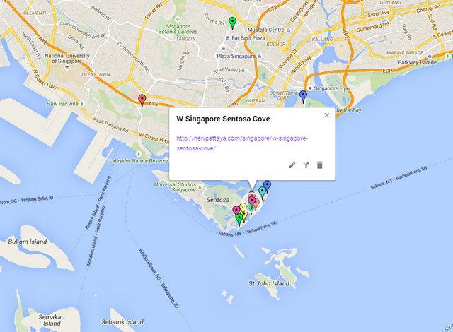 W Singapore Sentosa Cove Map