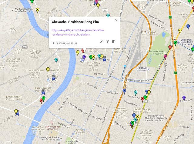 Chewathai Residence Bang Pho Map